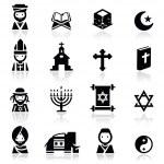 Icons set Religions — Stock Vector