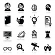 Icons set Nerd — Stock Vector