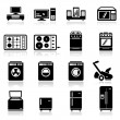 Stock Vector: Icons set home appliances