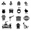 Icons set Honey — Stock Vector