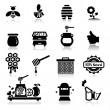 Icons set Honey — Stock Vector