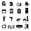Icons set home appliances — Stock Vector
