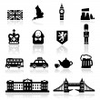 Icons set British Culture — Stock Vector