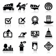Stock Vector: Election Icons Set
