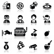 Royalty-Free Stock Imagen vectorial: Icons set Casino