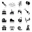 Icons set Birthday and celebration — Stock Vector