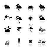 Icons set Weather — Stock Vector