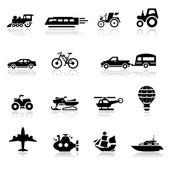 Icons set transportation — Stock Vector