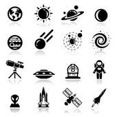 Space Icons set — Vettoriale Stock