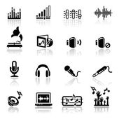 Icons set Sound — Stock Vector