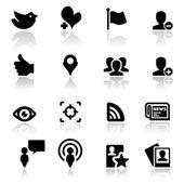 Icons set Social network — Stock Vector
