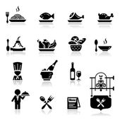Icons set Restaurant — Stock Vector