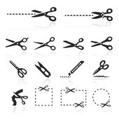 Scissors Icons set — Stock Vector