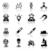 Icons set science and research — Cтоковый вектор