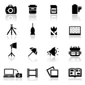 Icons set photography — Stock Vector