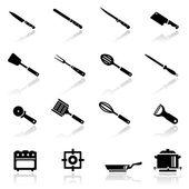 Icons set kitchen utensil — Stock Vector