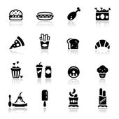 Icons set Junk food — Stock Vector