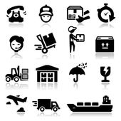 Icons set shipping and delivery — Stock Vector