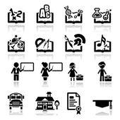 Icons set education — Stock Vector