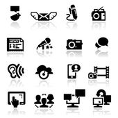 Communication Icons Set — Stock Vector