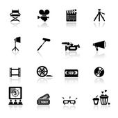 Icons set Cinema and movies — Stock Vector