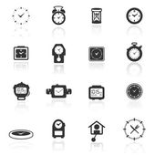 Icon set clocks — Stock Vector