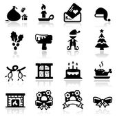 Christmas Icons Set Two — Stock Vector