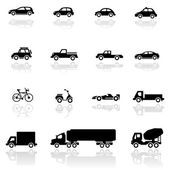 Ikonuppsättning fordon — Stockvektor