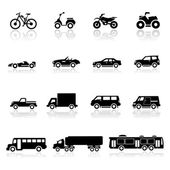 Icons set cars — Stock Vector