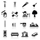 Carpenter Icons Set — Stock Vector