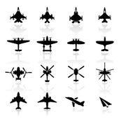 Icon set Airplanes — Stock Vector