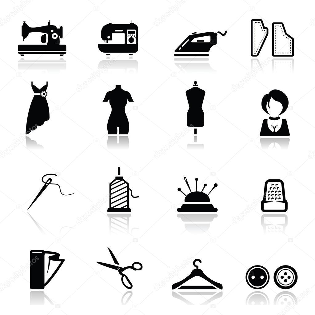 Diki Ve Moda Icons Set Stok Vekt R Tantoon 22894976