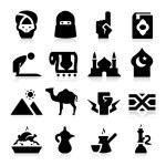 Arabian Culture Icons — Stock Vector