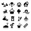 Stock Vector: Amusement Park icons set elegant series