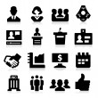Business & Meeting Icons — Stock Vector