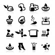 Spa icons set elegant series - Stock Vector
