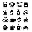 Breakfast Icons set elegant series — Vettoriali Stock