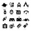 Cart parts icons set  Elegant series — Stock Vector