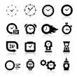 Clock icons — Vettoriale Stock #24156051