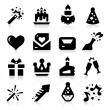 Celebration Icons — Imagen vectorial