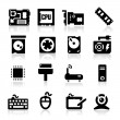 Computer icons set — Stock Vector