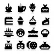 Stock Vector: Dessert Icons