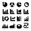 Diagrams Icons — Vettoriali Stock