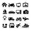 Property Icons set — Stockvektor