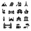 Countries icons set elegant series - Stock Vector