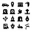 Funeral Icons — Stock Vector