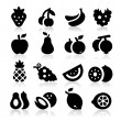 Vector de stock : Fruits icons