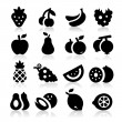 Fruits icons — Vettoriale Stock #24157151