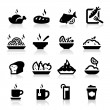 Food and Drink icons set Elegant series — Stock Vector