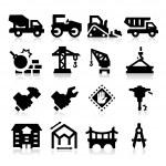 Heavy construction icons — Stock Vector